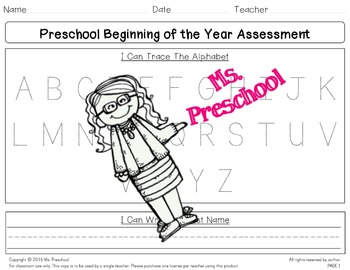 Beginning of the Year Preschool Assessment