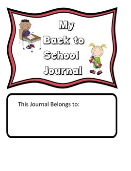 Primary Writing Journal: Beginning of the Year
