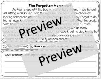 Beginning of the Year Problem Solver Social Stories
