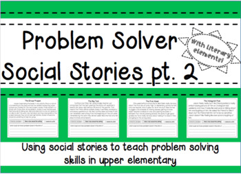 Beginning of the Year Problem Solver Social Stories pt. 2