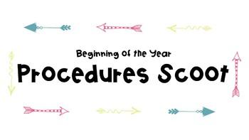 Beginning of the Year Procedure Scoot Activity- Editable Version