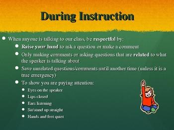 Beginning of the Year Procedures PowerPoint
