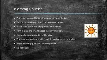Beginning of the Year Procedures and Expectations Powerpoint EDITABLE