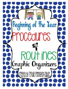 Beginning of the Year Procedures and Routines Graphic Organizers