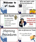 Beginning of Year Classroom Procedures Checklist on Power Point - EDITABLE