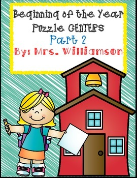 Beginning of the Year Puzzle Centers- Part 2
