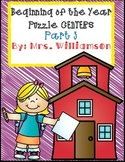 Beginning of the Year Puzzle Centers- Part 3