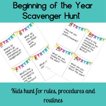 Beginning of the Year QR Code Scavenger Hunt