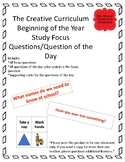 Beginning of the Year Questions