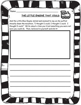 Beginning of the Year Reading Connections Giving Tree & Little Engine That Could