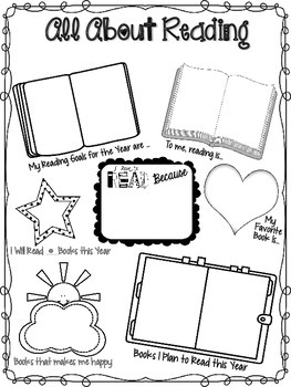 "Back to School: ""All About Reading"" Student Info Activity"