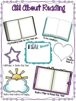 """Back to School: """"All About Reading"""" Student Info Activity"""