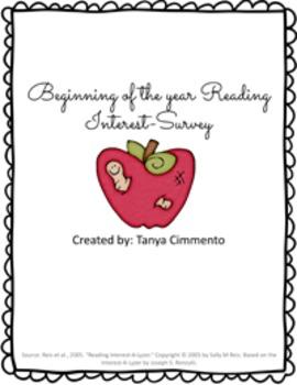 Beginning of the Year Reading Interest Survey