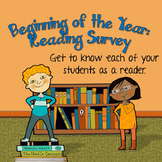 Beginning of the Year Reading Survey