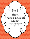Beginning of the Year Record Keeping Forms for a Pre-k Class