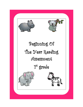 Beginning of the Year Review for First Grade