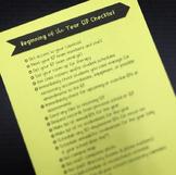 Beginning of the Year SLP Checklist