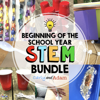 Beginning of the Year STEM Activities BUNDLE with 9 STEM Challenges