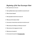 Beginning of the Year Scavenger Hunt for Classroom