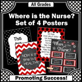 Where is the School Nurse Posters SET, Red and Black Nursi
