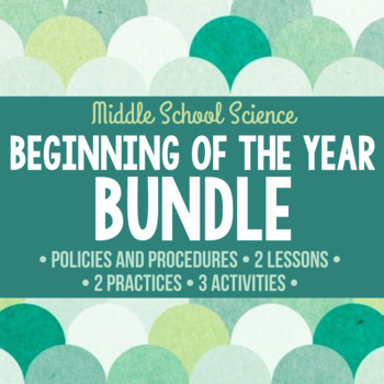 Beginning of the Year Science Bundle