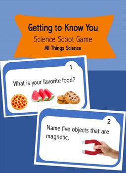 Beginning of the Year Science Scoot Game