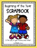 Beginning of the Year Scrapboook
