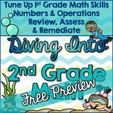 Beginning of the Year: Second Grade Math Review FREE PREVIEW