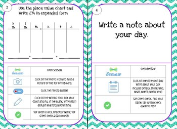 Beginning of the Year Seesaw task cards 2/3