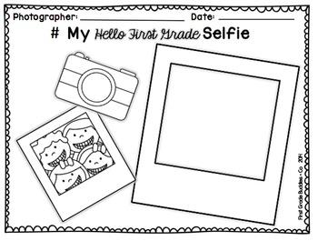 Beginning of the Year Selfie {Freebie}