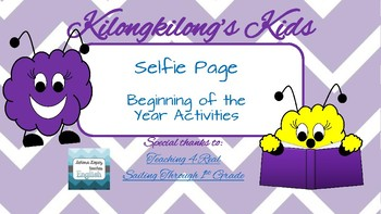 Back-to-School - Selfie Page