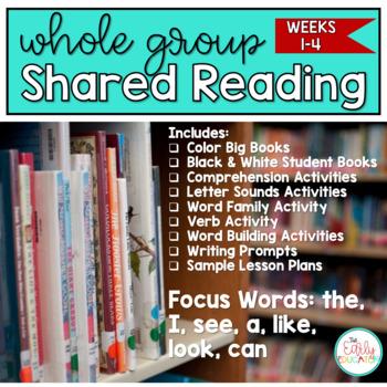 Whole Group Shared Reading BUNDLE Weeks 1-4