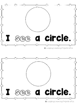 Beginning of the Year Sight Word Readers....Set # 1  (Emergent Readers)