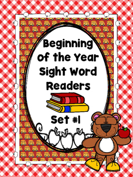 Beginning of the Year Sight Word Readers....Set # 1  (Emer
