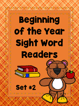Beginning  of the Year Sight Word Readers.....Set #2  (Emergent Readers)