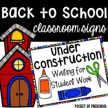 Beginning of the Year Signs
