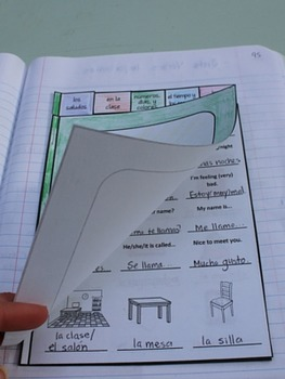 Beginning of the Year Spanish Interactive Notebook Booklet