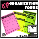 Beginning of the Year Special Ed forms, IEP at a Glance