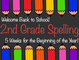 Beginning of the Year Spelling and Word Work for 2nd Grade - Five Weeks
