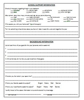 Back to School Student Application