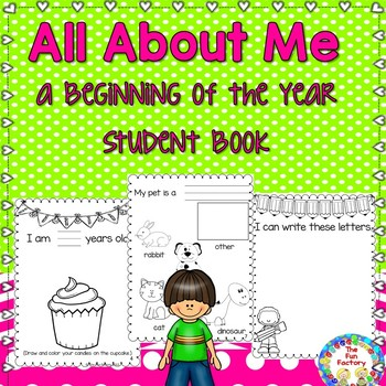 Beginning of the Year Student Book All About Me