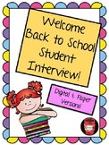 Beginning of the Year Student Interview GOOGLE FORMS