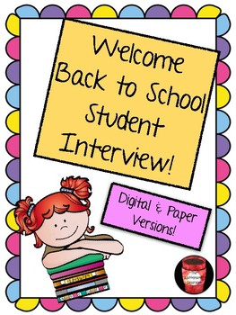 Beginning of the Year Student Interview