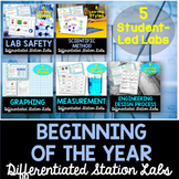 Beginning of the Year Student-Led Station Lab Bundle
