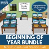 Beginning of the Year Student-Led Station Lab Bundle