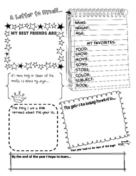 Beginning of the Year Student Letter