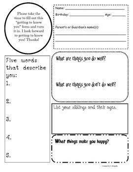 Beginning of the Year Student Survey- Intermediate