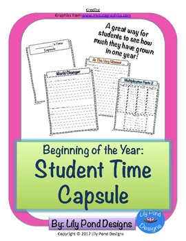 Beginning of the Year: Student Time Capsule
