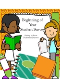 Beginning of the Year Survey: Getting to Know Students as