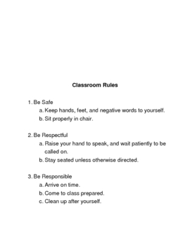 Beginning of the Year Survival Resources: Role Playing with the Rules